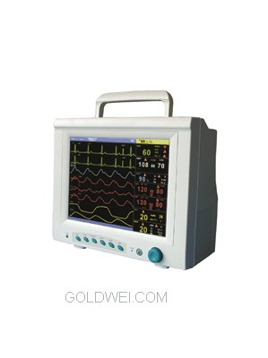 CMS9000 MULTI-PARAMETER MONITOR  FOR ECG, NIBP, SPO2,  RESPIRATION,  TEMPERATURE, PULSE RATE
