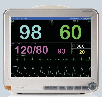 AGW8000D 15'' COLOR TFT DISPLAY PORTABLE PATIENT MONITOR