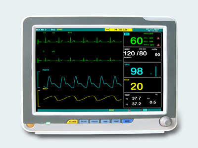 MULTI-PARAMETERS PORTABLE PATIENT MONITOR MGW6012T TOUCH SCREEN WITH 5 PARAMETERS